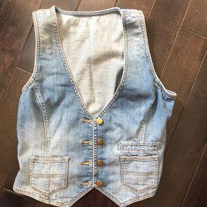 GAP jeans vest EUC women's small